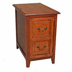 Leick Furniture Shaker Cabinet End Table In Medium Oak