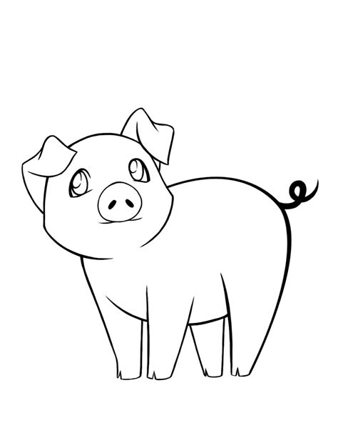 Pig coloring pages The Sun Flower Pages