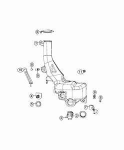 2016 Dodge Challenger Reservoir  Windshield Washer  System