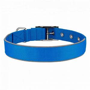 nylon dog collar reflective puppy safety collars for dogs blue