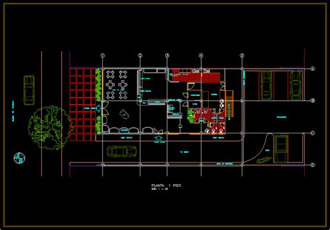 bakery layout design  autocad  cad