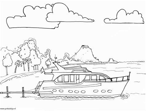 Speedboot Kleurplaat by Kleurplaten Voor Volwassenen Boot