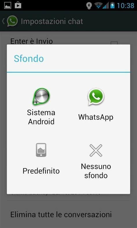 cambiare sfondo whatsapp
