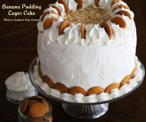 banana pudding layer cake melissassouthernstylekitchencom