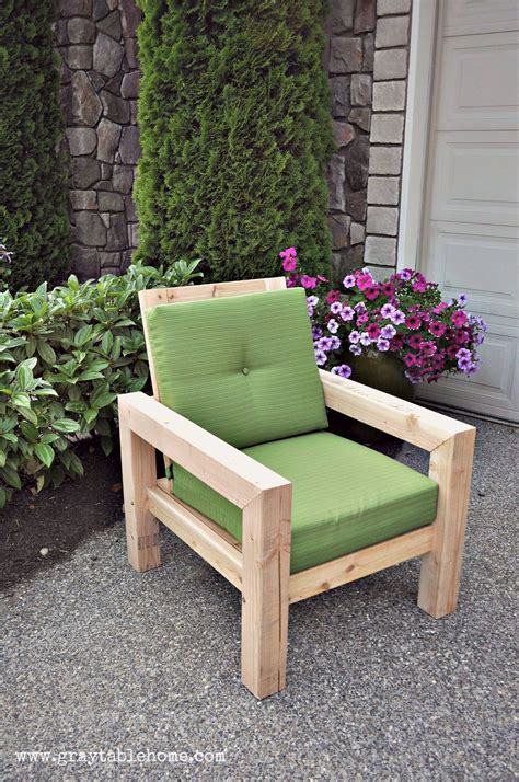 Outside Furniture by Diy Modern Rustic Outdoor Chair Plans Using Outdoor