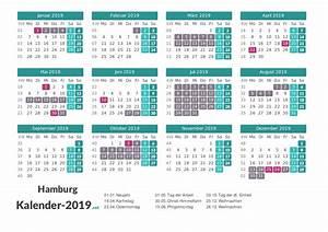 Jahreskalender 2019 A4 : ferien hamburg 2019 ferienkalender bersicht ~ Kayakingforconservation.com Haus und Dekorationen