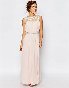 tfnc london wedding embellished maxi dress in white peach With maxi dresses for wedding