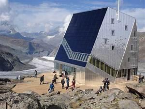 Autonomous alpine shelter, Monte Rosa hut, Switzerland
