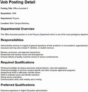 Sample job posting f resume for How to write a cover letter without a job posting