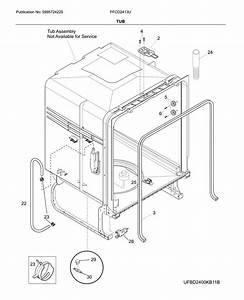 Frigidaire Ffcd2413ub4a Dishwasher Parts