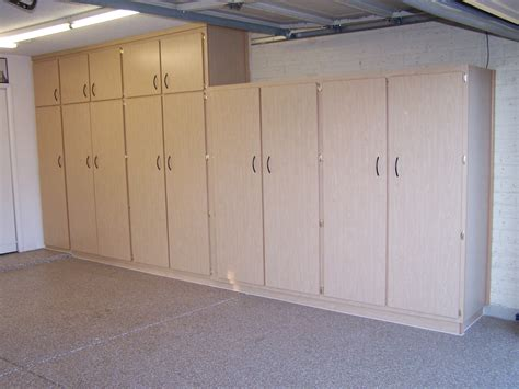 Tall Wood Garage Storage Cabinets With Floor Coating Epoxy