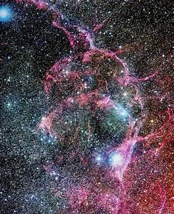 Optical image of the Vela supernova remnant - Stock Image ...