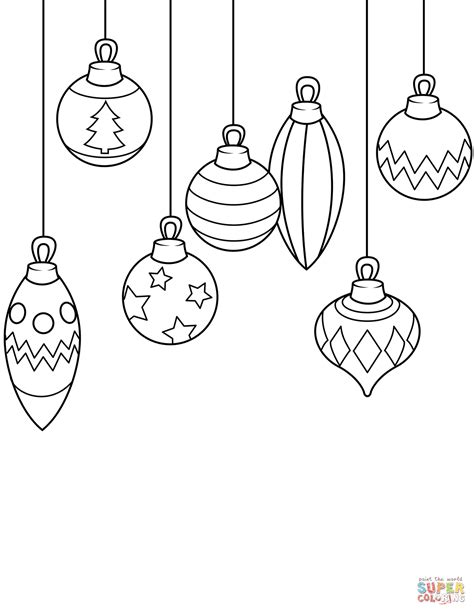 Coloring Ornaments by Ornaments Coloring Page Free Printable
