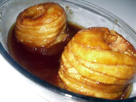 recette de pommes au four caram 233 lis 233 es