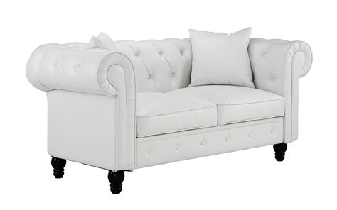 Bonded Leather Loveseat by Classic Home Living Room Loveseat Bonded Leather Scroll