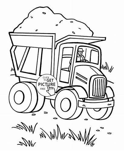 Coloring Transportation Pages Preschool Dump Truck Trucks