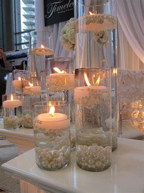diy wedding candle centerpiece ideas elegant diy pearl and candle centerpieces mon cheri bridals