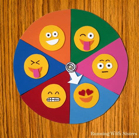 Make An Emoji Mood Spinner   Running With Sisters