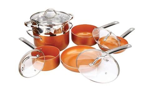 copper pan chef  piece set    tv