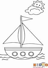 Coloring Boat Sheets Preschool March Worksheets Clipart Drawing sketch template