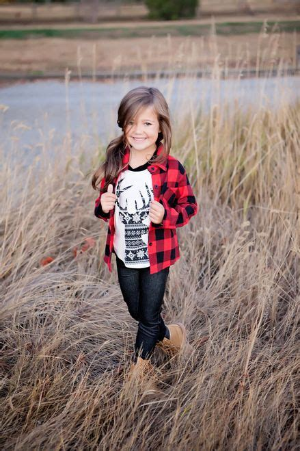 Girls Plaid Flannel Top Blackred  Girl Clothing, Girls