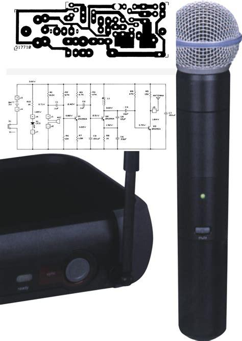 Wireless Uhf Microphone Schema Layout Transmitter