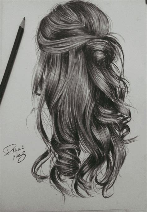 kinda wavy hairstyle drawing art hair sketch