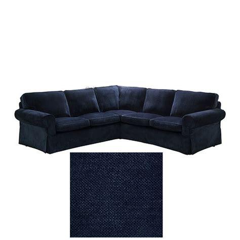 ikea ektorp 2 2 corner sofa cover slipcover vellinge dark blue