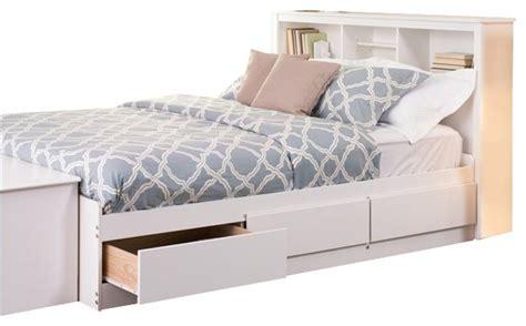 prepac storage bed prepac monterey platform storage bed white