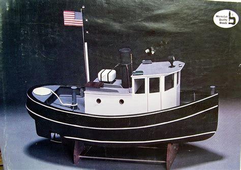 vintage midwest tugboat harbor master wood model boat