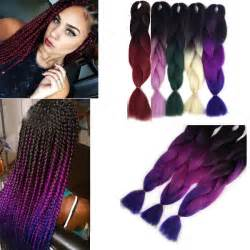 Extensions Cheveux Meches Tresse Africaine Afro Braid Ombr Tie Dye