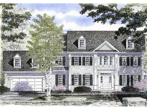 mabelle georgian colonial home plan   house plans