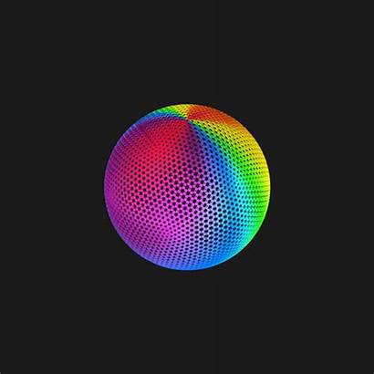 Illusion 3d Cool Animated Rainbow Sphere Colorful