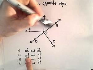 Rays   Identify Opposite Rays   Geometry