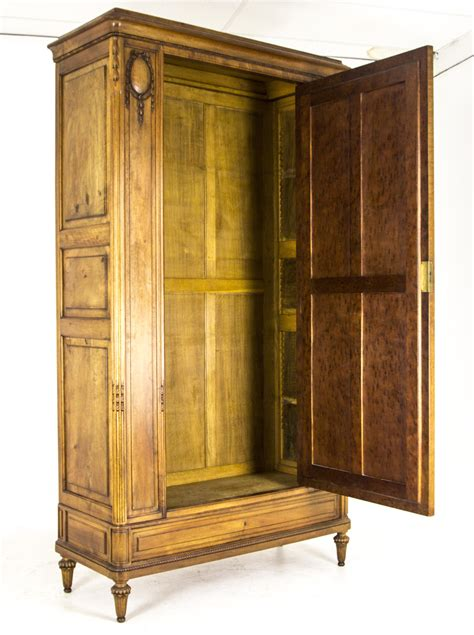 Single Door Wardrobe Closet by Single Door Armoire Antique Walnut Wardrobe Closet
