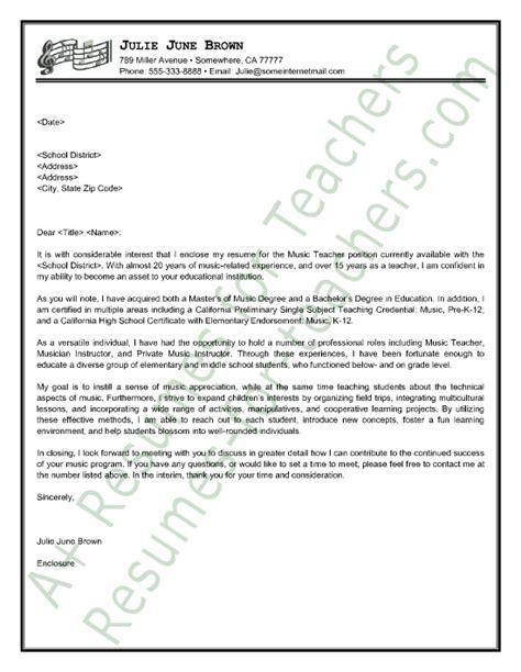 11889 resume cover letter exles for teachers cover letter sle stuff