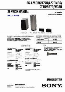 Sony Dhc-az3dm  Dhc-az7dm  Hcd-az3dm  Hcd-az7dm Service Manual