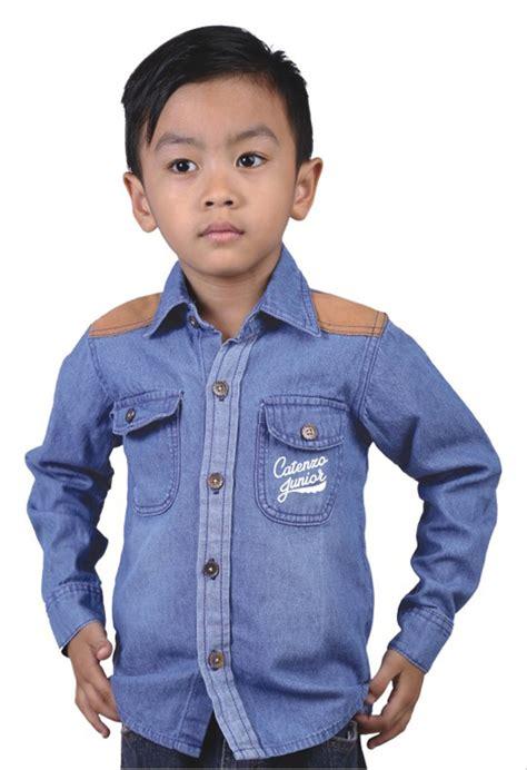 jual baju anak kemeja anak kemeja lengan panjang kemeja denim kemeja anak laki laki acmt 125