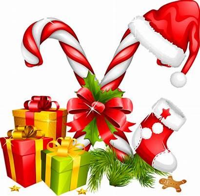 Candy Clipart Cane Ornaments Christmas Transparent Santa