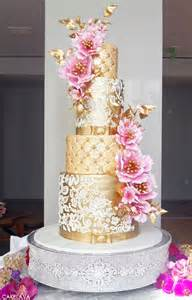 Pink & Gold Wedding Cake