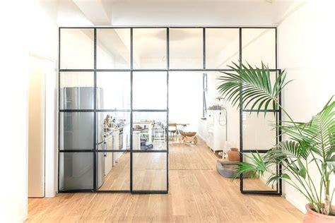 Trennwand Mit Glas by Stahl Glas Trennwand Raumteiler Aus Winkeleisen Und T