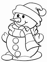 Scarf Coloring Pages Winter Snowman Printable Getcolorings sketch template
