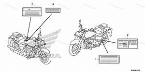 Honda Motorcycle 2014 Oem Parts Diagram For Caution Label