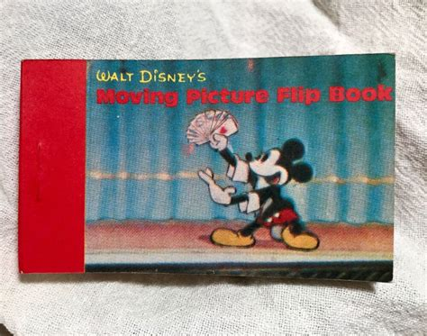 Magic With Mickey Book by Vintage Disney Moving Picture Flip Book 2 Mickey