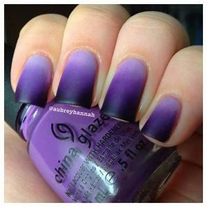 Black purple nail art