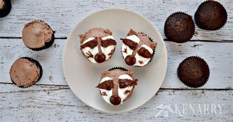 raccoon cupcakes easy decorating tutorial video