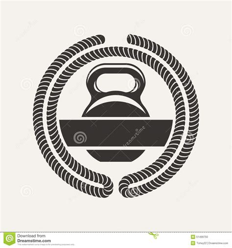 kettlebell vector cross illustration preview