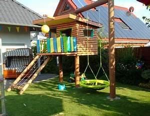 Kinder Holzhaus Garten : kinderspielhaus im garten schaukel holzhaus spielhaus backyard oasis ~ Frokenaadalensverden.com Haus und Dekorationen