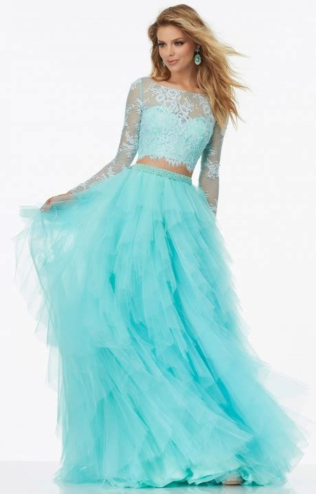 mori lee prom  long  piece long sleeves