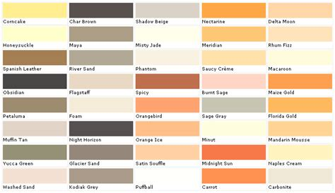 obsidian color chart pratt and lambert colors house paint color chart chip
